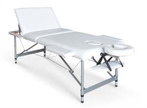 מיטת עיסוי מאלומיניום עם גב מתרומם