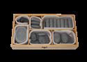אבנים חמות בקופסא מהודרת מבמבוק